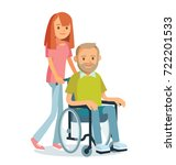senior man with granddaughter | Shutterstock .eps vector #722201533