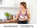 confident young woman in her...   Shutterstock . vector #722206576