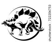 silhouette of mascara  dinosaur ... | Shutterstock .eps vector #722206753