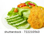close up view salad with fresh... | Shutterstock . vector #722210563