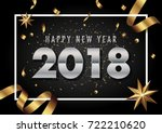 2018 happy new year vector... | Shutterstock .eps vector #722210620