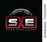straight edge   drug free youth ... | Shutterstock .eps vector #722213194