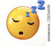 sleeping emoji isolated on... | Shutterstock . vector #722216350