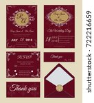 wedding invitation   save the... | Shutterstock .eps vector #722216659