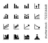 icon set of chart | Shutterstock .eps vector #722216668