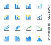 icon set of chart | Shutterstock .eps vector #722216914