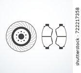brake disk and brake pads | Shutterstock .eps vector #722217358