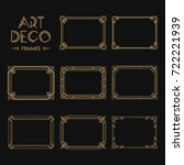 set of art deco borders and... | Shutterstock .eps vector #722221939