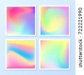 creative   vibrant gradients.... | Shutterstock .eps vector #722221990