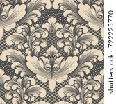 vector damask seamless pattern... | Shutterstock .eps vector #722225770