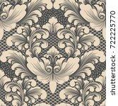 vector damask seamless pattern... | Shutterstock .eps vector #722225770