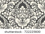vector damask seamless pattern... | Shutterstock .eps vector #722225830