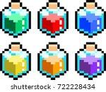 bottles of varieties of potion