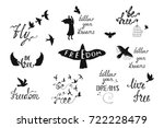 vector set of hand drawn... | Shutterstock .eps vector #722228479