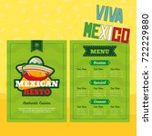 mexican menu template with... | Shutterstock .eps vector #722229880