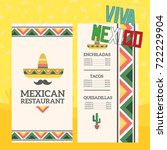mexican menu template with... | Shutterstock .eps vector #722229904