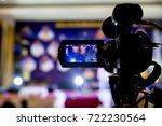video camera in business... | Shutterstock . vector #722230564