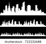 the silhouette of the city in a ... | Shutterstock .eps vector #722232688