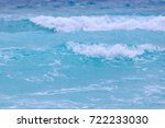 Small photo of Old wave and new wave on the sea