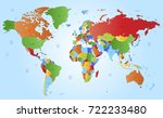 color world map | Shutterstock .eps vector #722233480