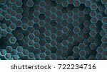 hexagonal geometric background. ... | Shutterstock . vector #722234716