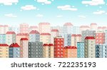 skyline of the european city... | Shutterstock .eps vector #722235193