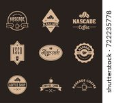 coffee label and badge with... | Shutterstock .eps vector #722235778