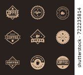 coffee label and badge with... | Shutterstock .eps vector #722235814