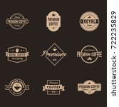 coffee label and badge with... | Shutterstock .eps vector #722235829