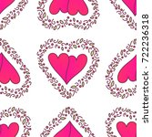 valentines day seamless pattern ... | Shutterstock . vector #722236318