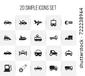set of 20 editable transport...