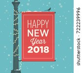 happy new year 2018 card.... | Shutterstock .eps vector #722239996