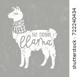 No Drama Llama Cute Card With ...
