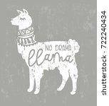 No Drama Llama Cute Card With ...