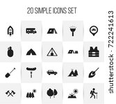 set of 20 editable camping...