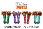 ready to autumn and colorful... | Shutterstock .eps vector #722246650