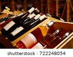 wine cellar from mediterranean... | Shutterstock . vector #722248054