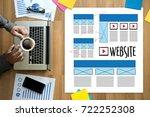 website designer working layout ...