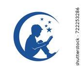 children reading logo | Shutterstock .eps vector #722253286