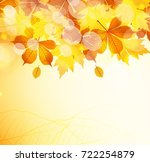 autumn leaves background | Shutterstock .eps vector #722254879