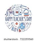 happy teacher's day  vector...   Shutterstock .eps vector #722255560