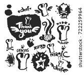chef doodle elements set. hand... | Shutterstock .eps vector #722259964