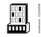 hotel building icon black
