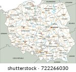high detailed poland road map... | Shutterstock .eps vector #722266030