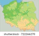 high detailed poland physical... | Shutterstock .eps vector #722266270