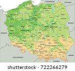 high detailed poland physical... | Shutterstock .eps vector #722266279