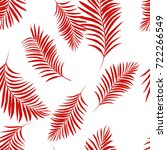 Vector Palm Tree Red Pattern...