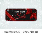 black friday sale banner with... | Shutterstock . vector #722270110