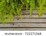 a wooden board background with... | Shutterstock . vector #722271568