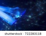 network with fiber optic in... | Shutterstock . vector #722283118